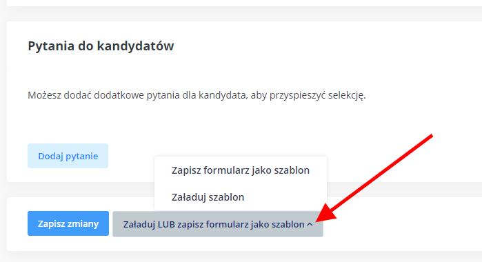 szablon formularza aplikacyjnego - system ATS